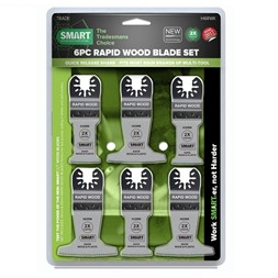 SMART 6 bladers sett Rapisd Wood 32 og 63 mm